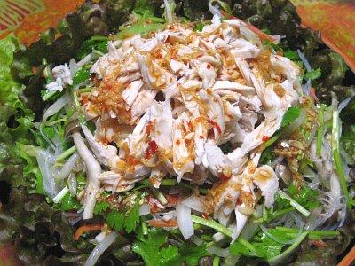 タイ風 鶏肉と香菜(パクチー)のサラダ