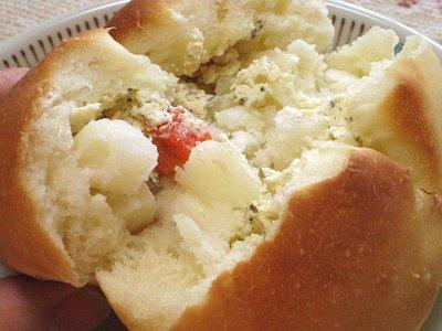 米粉を使ったポテトとクリームチーズのパン