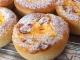 カッテージチーズとフルーツのパン