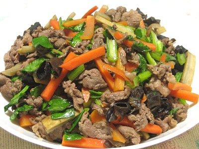 ごぼうと牛肉の炒め物