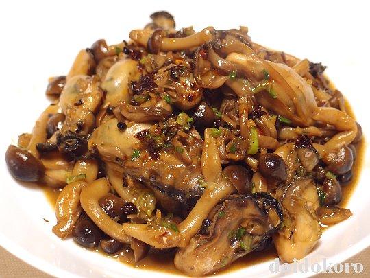 牡蠣の香味炒め