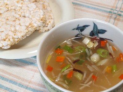 雑穀畑と五目スープ