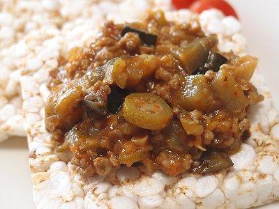 ひき肉と夏野菜の中華風炒め