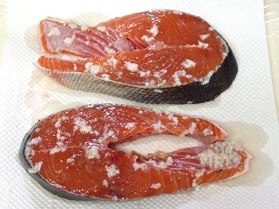 秋鮭の塩糀漬け