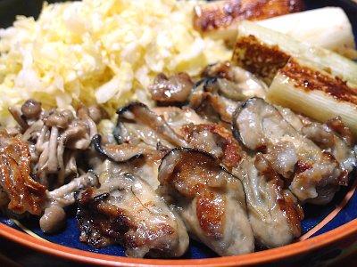 牡蠣(かき)の塩糀焼き