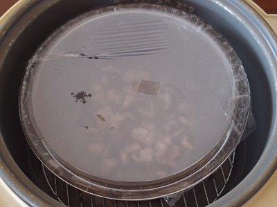 塩糀を蒸す
