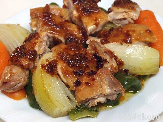 ニンニクしょう油麹漬け鶏もも肉のソテー