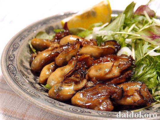 牡蠣(カキ)のじっくり焼き ニンニクしょう油麹