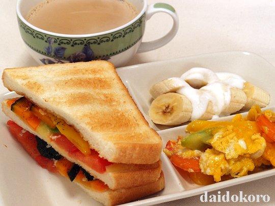 彩り野菜のサンドイッチプレート