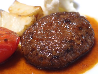 「日本食研 ハンバーグセット」でチーズインハンバーグ